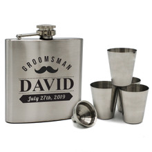 Engraved Flask Set for Groomsmen