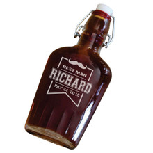 Personalized Swing Top Glass Groomsmen Flasks