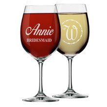 Personalized Bridesmaid Gift Wine Glasses