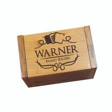 Personalized Wood Recipe Box