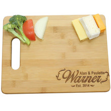 "Personalized Wedding Gift For Anniversary and Housewarming - 11.5"" x 8.75"" Cutting Board"