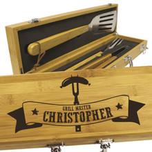 Custom Engraved BBQ Grilling Tool Set