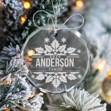 Personalized Glass Christmas Ornament 2020
