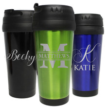 Personalized Travel Coffee Tumbler