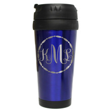Engraved Travel Coffee Monogrammed Mug
