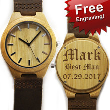 Personalized Engraved Wood Watch