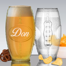 Personalized Football Tumbler Beer Glass