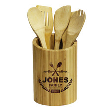 Engraved Cooking Utensil Holder