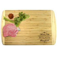 Premium Personalized Bamboo Cutting Board - 18 X 12