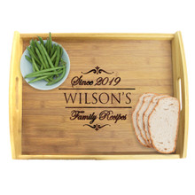 Personalized Wood Serving Tray with Handles