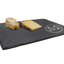 Engraved Slate Serving Tray and Cheese Board