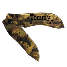 Personalized All Camo Pocket Knife