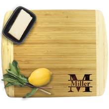 Premium Personalized Bamboo Cutting Board - 13.5 x 11.5