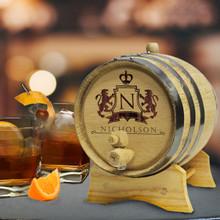 Personalized 3 Liter Oak Whiskey - Wine Barrel