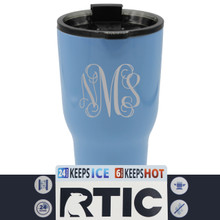 Personalized Vine Monogram RTIC Cup