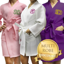 Monogrammed Waffle Bridesmaid Getting Ready Robe