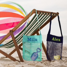 Personalized Seashell Collection Kids Beach Bag