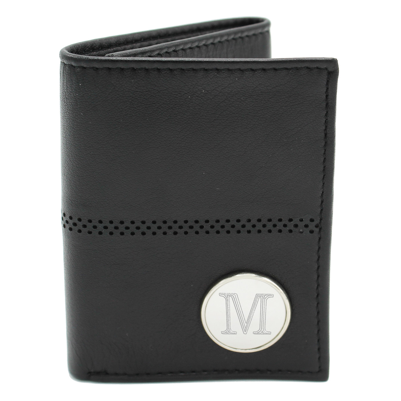 1af81334a3a63 ... Personalized Trifold Leather Wallet. Image 1. Loading zoom
