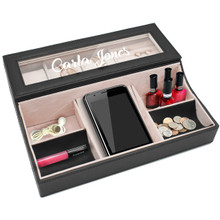 Personalized Womens Valet Dresser Top Box