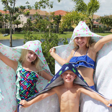 Personalized Hooded Beach Towels for Kids
