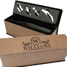 Engraved Wine Gift Box for Couples