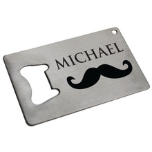 Personalized Man Card Bottle Opener