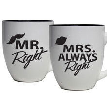 Mr Right and Mrs Always Right Gifts - Set of 2