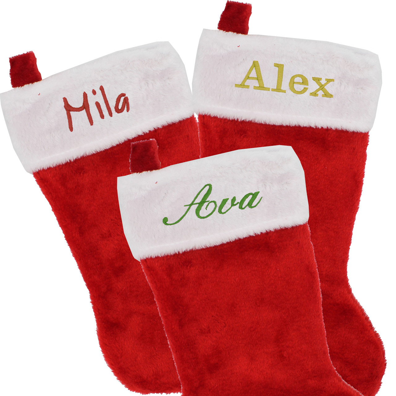 Personalized Red And White Classic Christmas Stocking