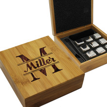 Personalized Whiskey Stone Gift Box Set