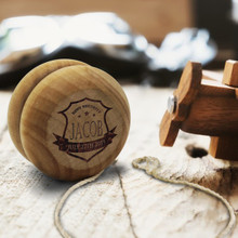 Custom Engraved Personalized Wooden YoYo