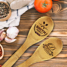 Personalized Engraved Bamboo Wooden Spoon