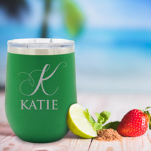 Custom Engraved Personalized Insulated Stemless Wine Tumbler