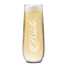Wedding Party Stemless Flutes Glasses