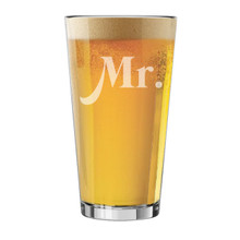 Mr. and Mrs. Pint, Stemless Wine, Square Rocks Glasses
