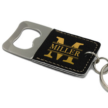 Personalized Square Key Chain Bottle Opener