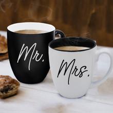 Mr. and Mrs. Coffee Latte Mugs