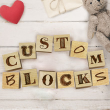 Custom Engraved Baby Blocks Sets