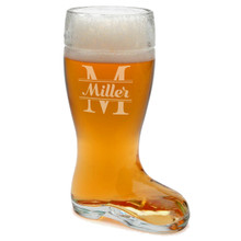 Personalized Glass Beer Boot