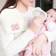 Monogrammed Baby Bib and Burp Cloth Sets