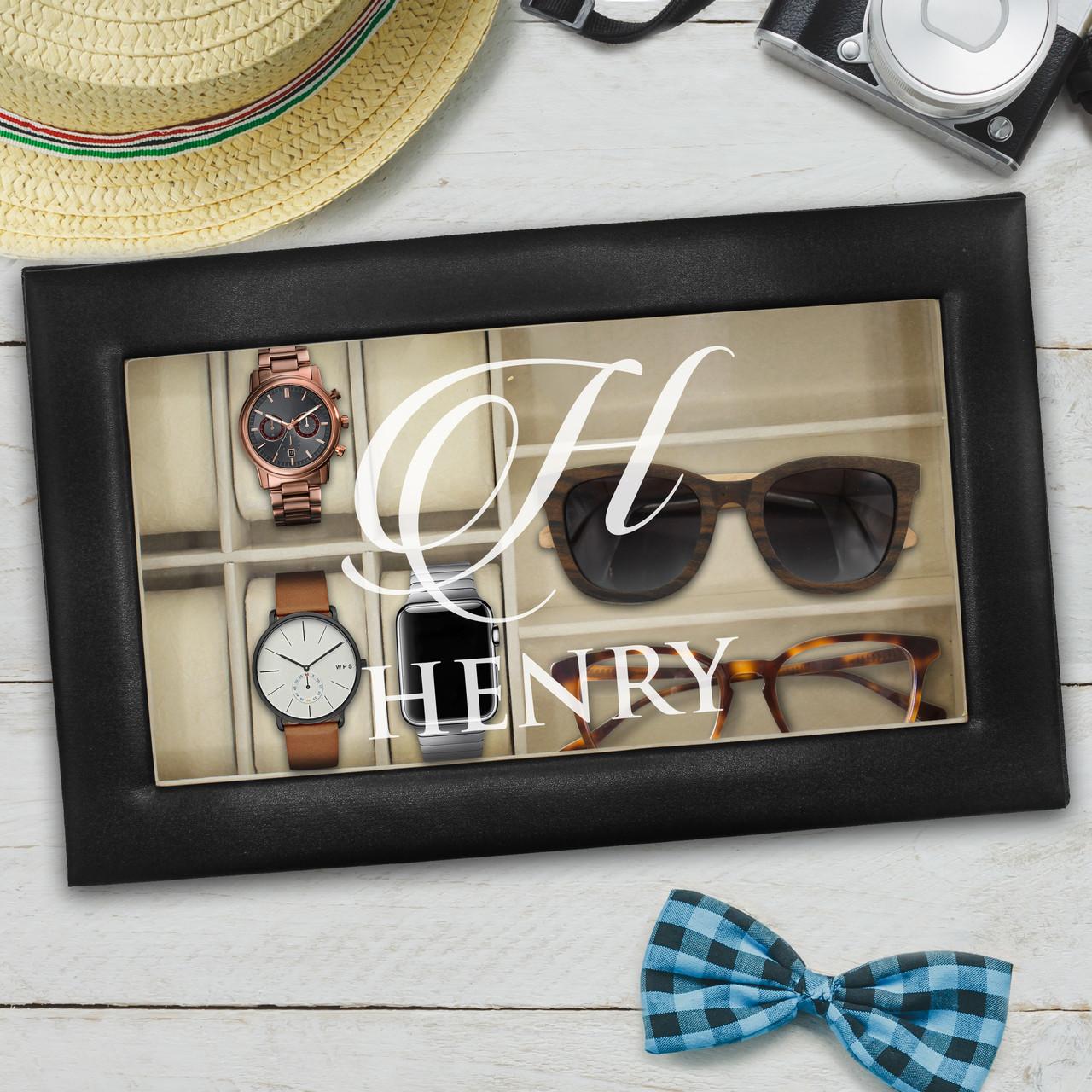 Personalized Watch And Sunglasses Box