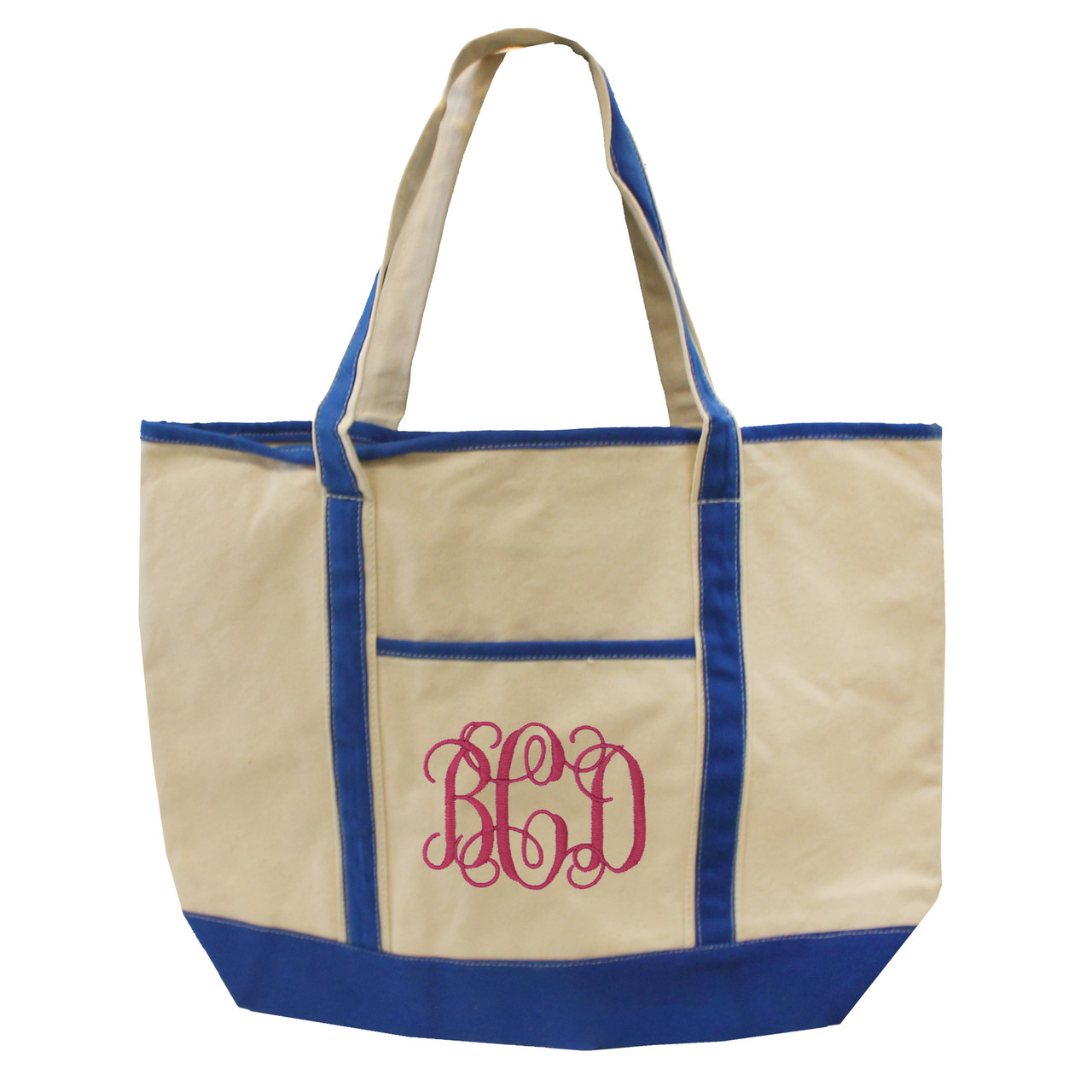 861c908f2c2a ... Custom Monogrammed Canvas Tote Bag. Image 1. Loading zoom