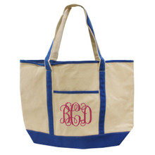 Custom Monogrammed Canvas Tote Bag