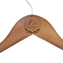 Custom Engraved Walnut Wedding Hanger