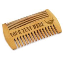 Custom Engraved Wood Beard Comb