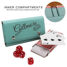 Personalized Dice and Card Game Set