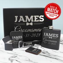 Custom Groomsmen Gift Box - Bow Tie Style