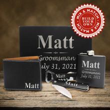 Custom Groomsmen Gift Box - 3 Lines Style