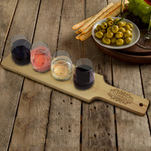 Custom Personalized Wine Flight Serving Set