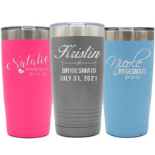 Personalized Bridesmaid Stainless Steel Insulated Tumblers