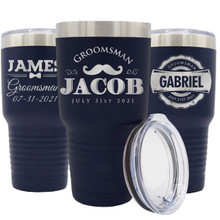 Custom Engraved Groomsmen Travel Tumbler